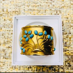 Banana Republic Gold and Turquoise Cuff